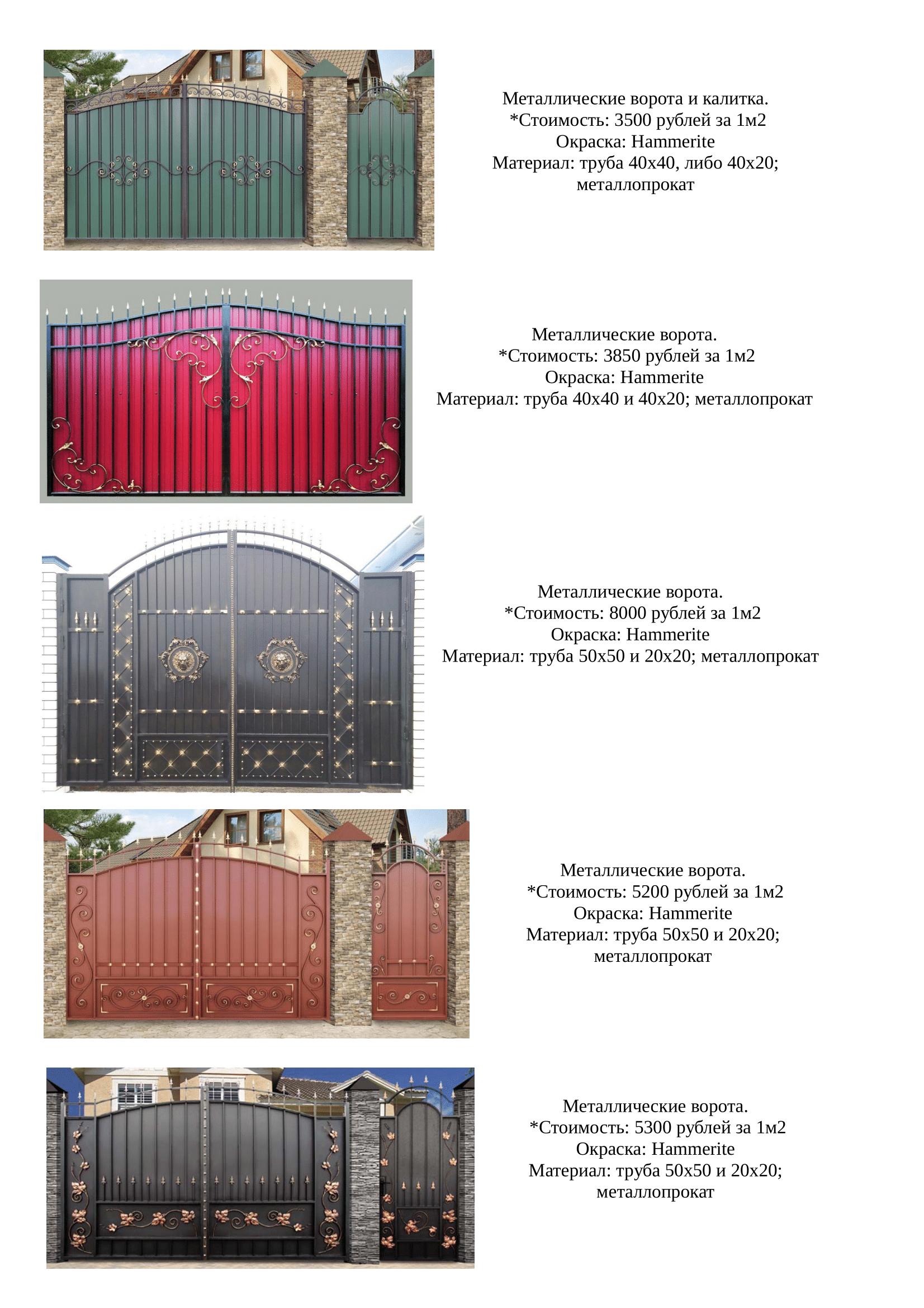 распашные ворота в липецке